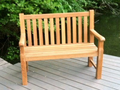 four foot teak bench