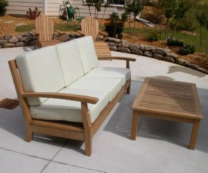 High Quality Teak Sofa With Teak Coffee Table By Atlanta Teak Furniture