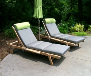 Teak Chaise Lounges By Atlanta Teak Furniture