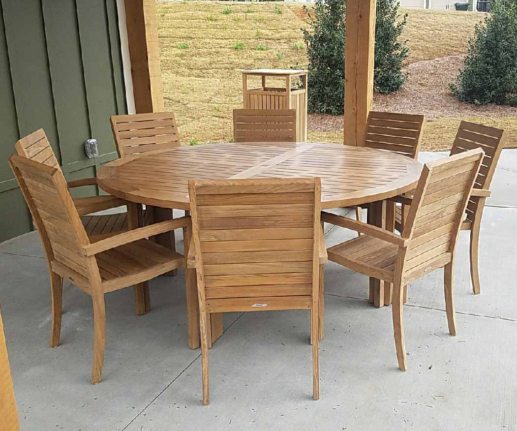 Six Foot Round Teak Dining Table Good Ideas