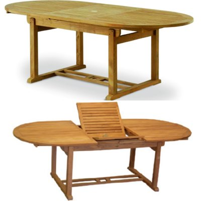 Teak extension tables thailand teak alpharetta for Outdoor furniture samui