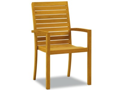 teak stacking chair for outdoor dining