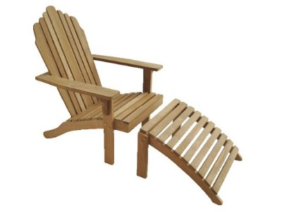 outdoor furniture - adirondack chair and footrest