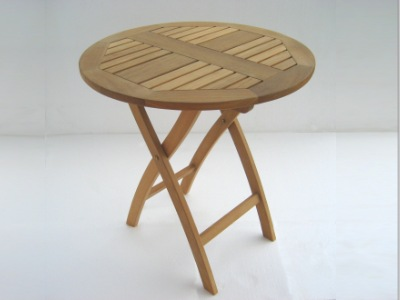 folding teak cafe table from Atlanta Teak Furniture