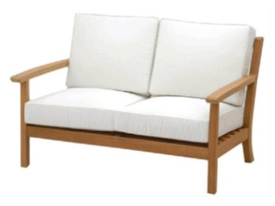 teak loveseat by Atlanta Teak Furniture