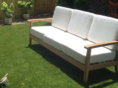outdoor teak sofa from Atlanta Teak Furniture