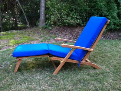 Teak Steamer With Sunbrella Cushion