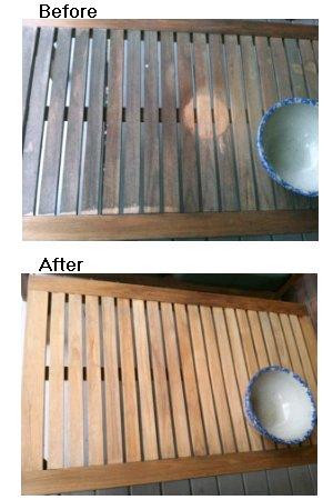 cleaning teak furniture