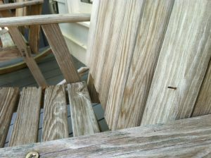 nail pops in cheap teak