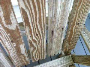 example of nails in teak furniture