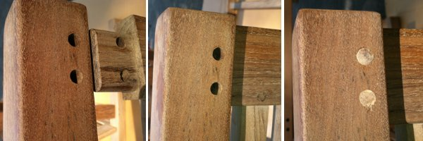 example of mortise and tenon joint in teak furniture