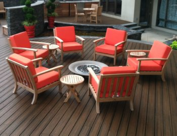 Etonnant Firepit Furniture   Teak Lounge Chairs