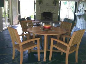 Brookhaven, GA teak table and chairs