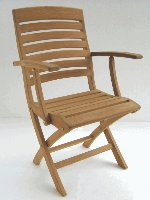 Teak Napoli Folding Chair