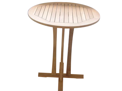 36in round teak bar table