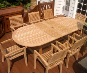 Teak Dining Table and Chairs by Atlanta Teak Furniture