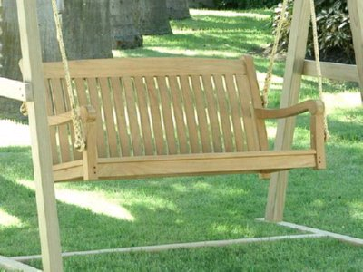 A Teak Porch Swing