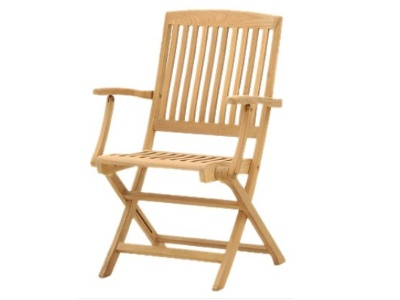 traditional teak folding chair