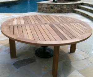 Buy Majestic Round Teak Dining Tables Factory Direct