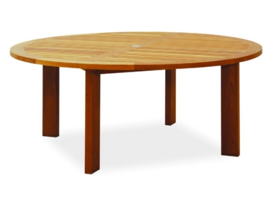 A Round Teak Dining Table