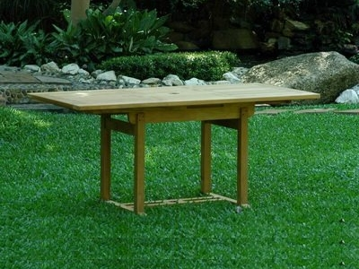 A Outdoor Teak Extension Dining Table