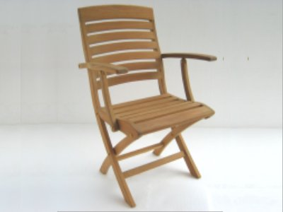 A Teak Folding Arm Chair