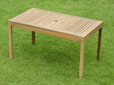 outdoor teak table by Atlanta Teak Furniture