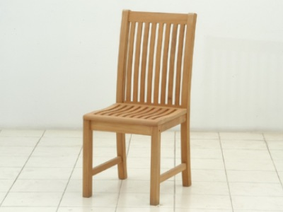 teak armless side chair