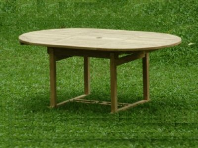 A Round Teak Extension Table