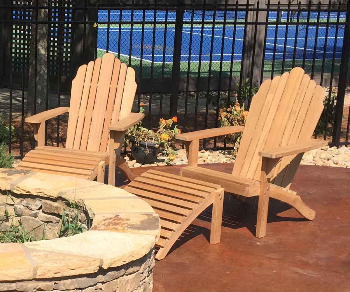 Buy Grand Teak Adirondack Chairs With Footrests Save Up