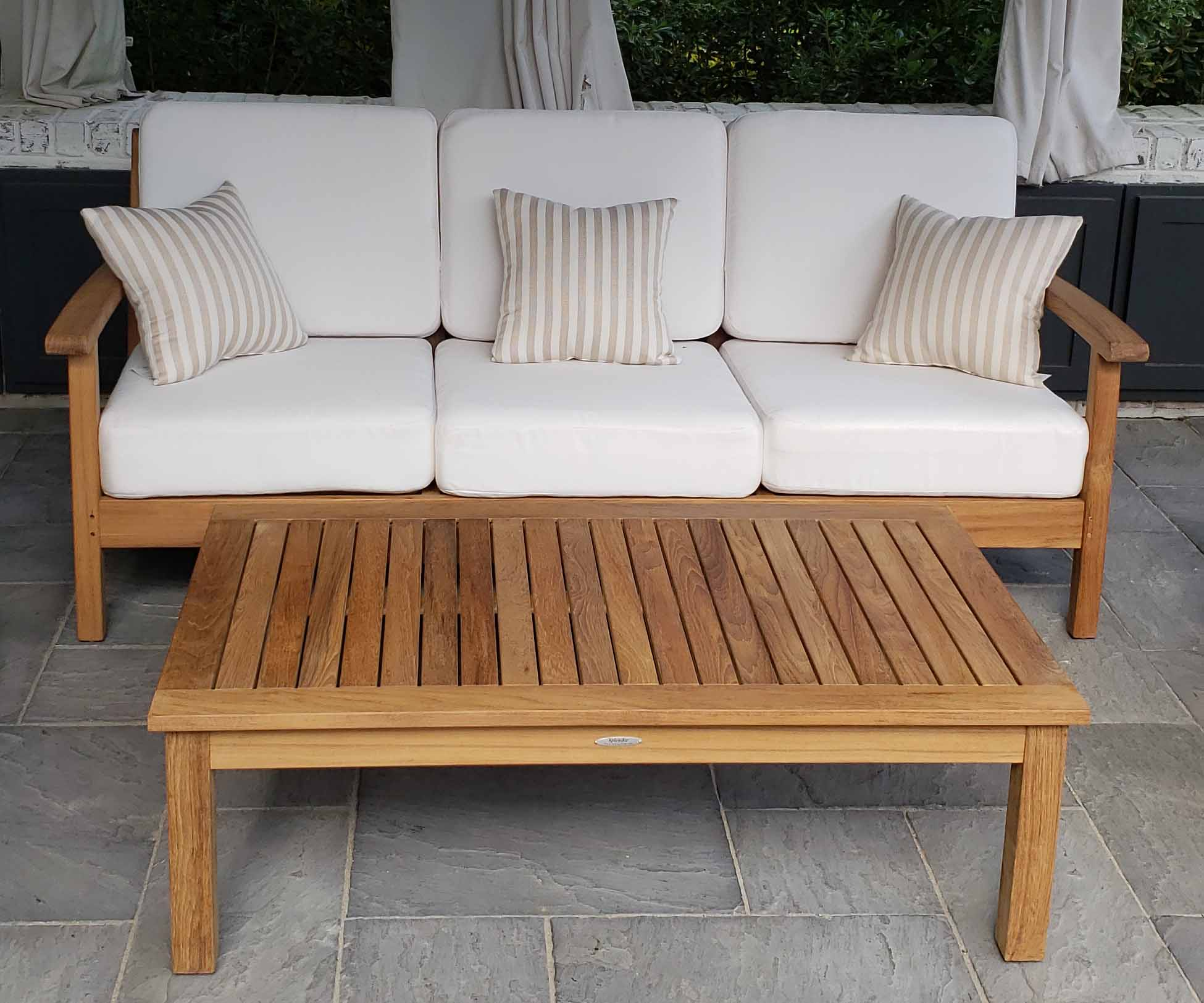 Atlantic Teak Sofa and coffee table