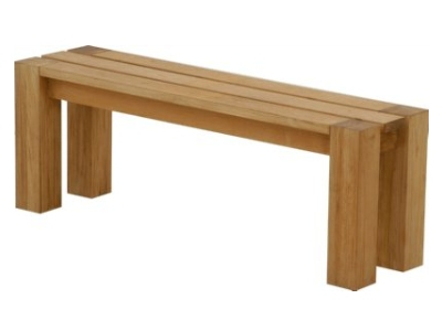 backless teak bench by Atlanta Teak Furniture