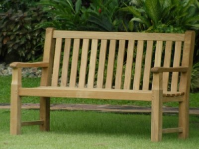 A Teak Outdoor Bench