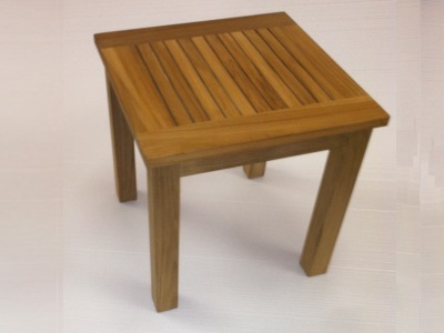 A Teak Shower Stool