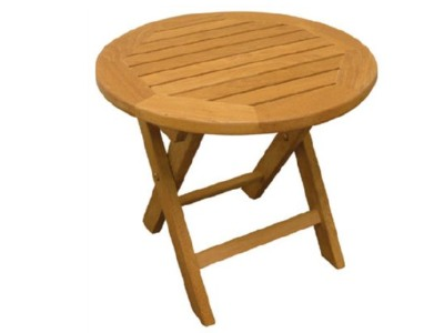 Teak folding side table from Atlanta Teak Furniture