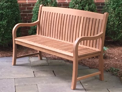teak bench by Atlanta Teak Furniture