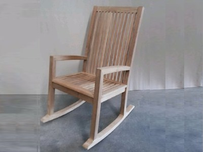 A Teak Rocking Chair