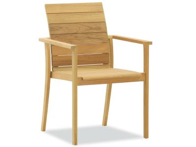 modern teak arm chair