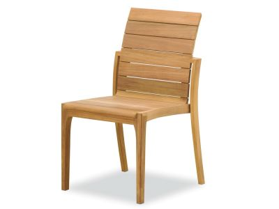 modern teak side chair