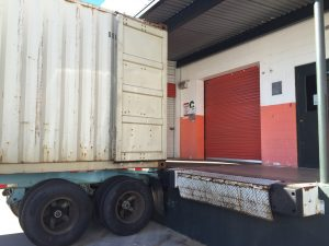 teak warehouse - unloading