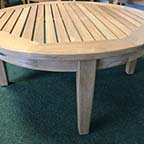 Atlanta teak round coffee table