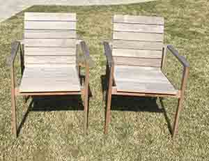 Delicieux Weathered Teak Chairs